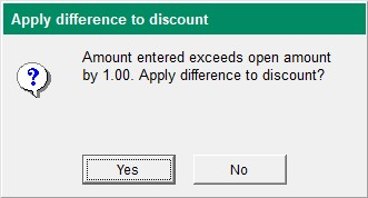 Apply Difference to Discount Screen